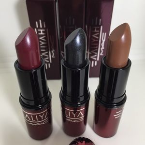 Mac Aaliyah lipstick collection all 3 shades
